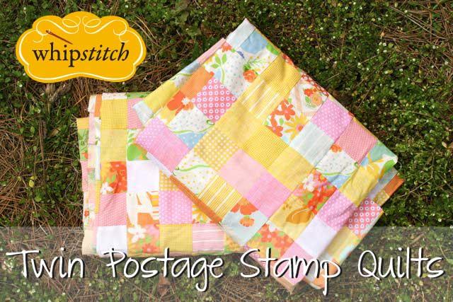 twin postage stamp quilts header | Whipstitch