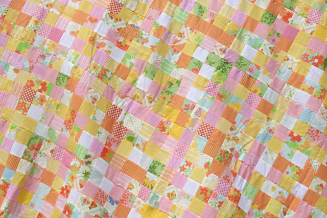 two inch postage stamp quilt | Whipstitch
