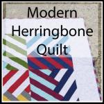 modern herringbone quilt button
