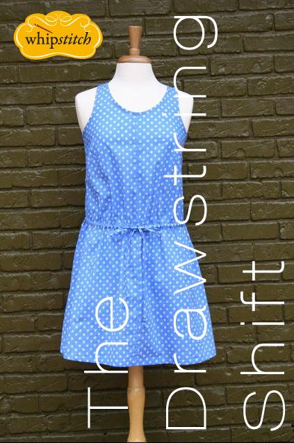 drawstring shift dress pattern | whipstitch