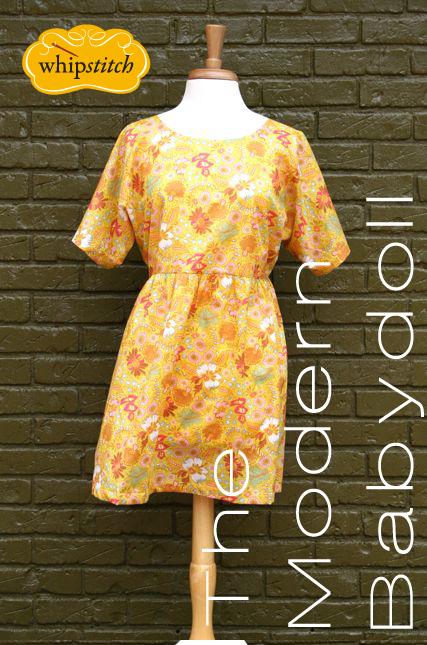 modern babydoll dress pattern | whipstitch