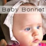baby bonnet button