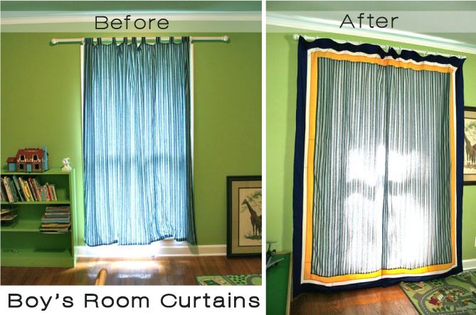 boy curtains closed | whipstitch