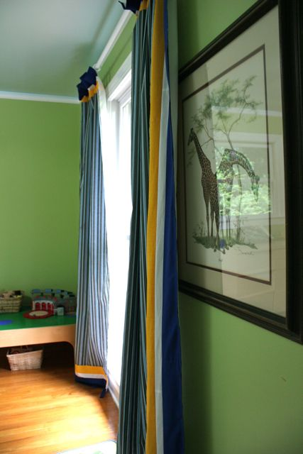 boy curtains side view | whipstitch