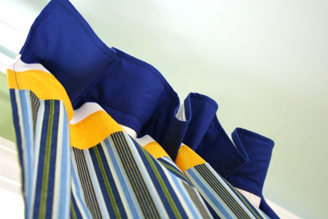 curtain header | whipstitch