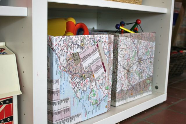 map storage boxes