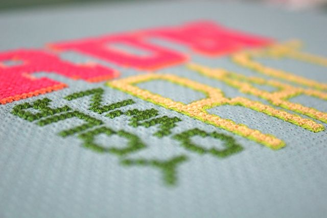 run your own race detail | whipstitch