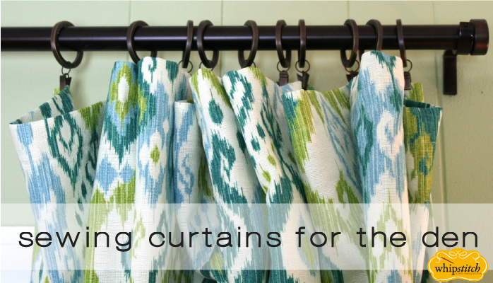sewing curtains | whipstitch