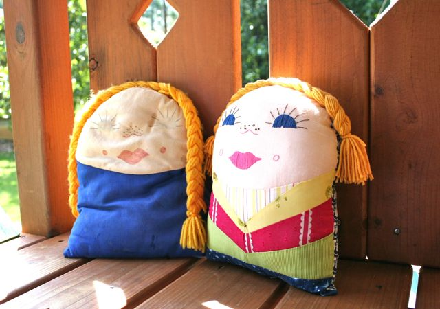 kindergarten pillow doll | whipstitch