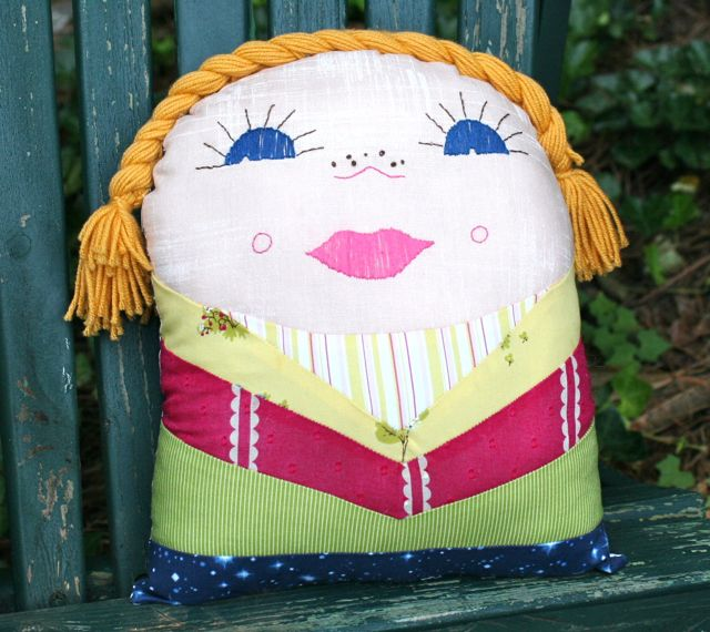 new vintage kindergarten pillow doll | whipstitch