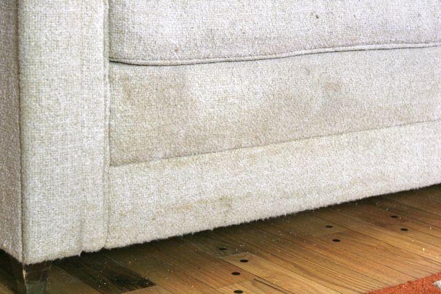 vintage sofa dirt