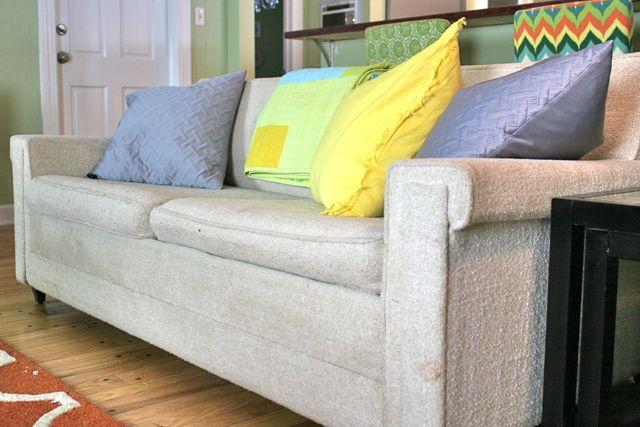 vintage sofa new pillows