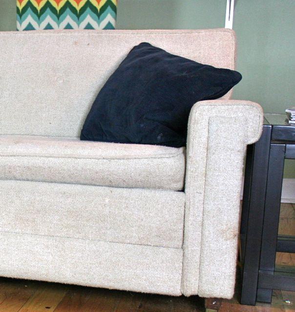 vintage sofa pillow tragedy