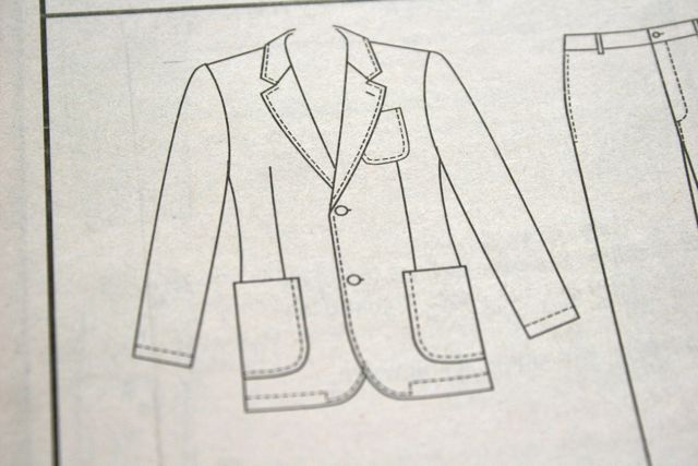 jacket line drawing