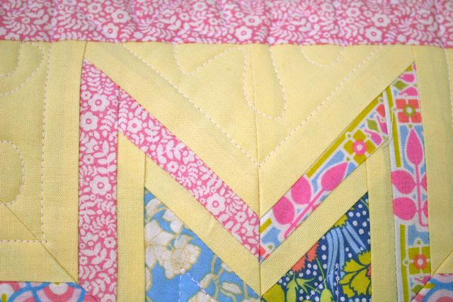 liberty pillow straight line quilting