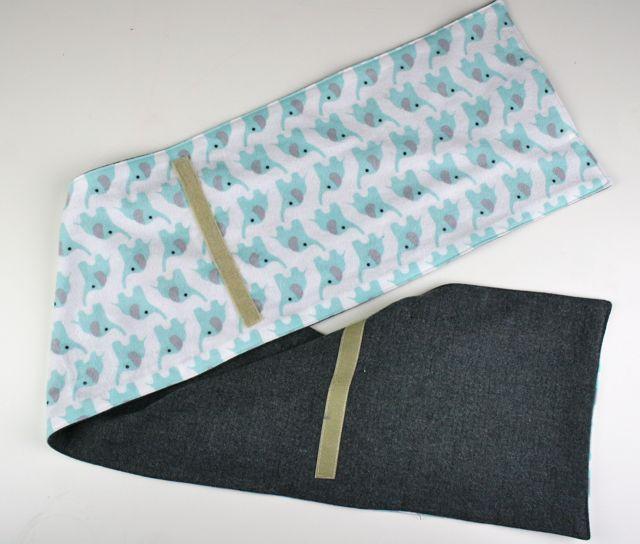 quick release velcro scarf