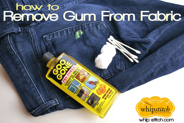 how to remove gum from fabric with goo gone