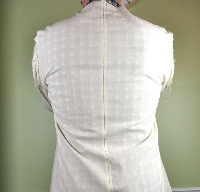 mens jacket across back