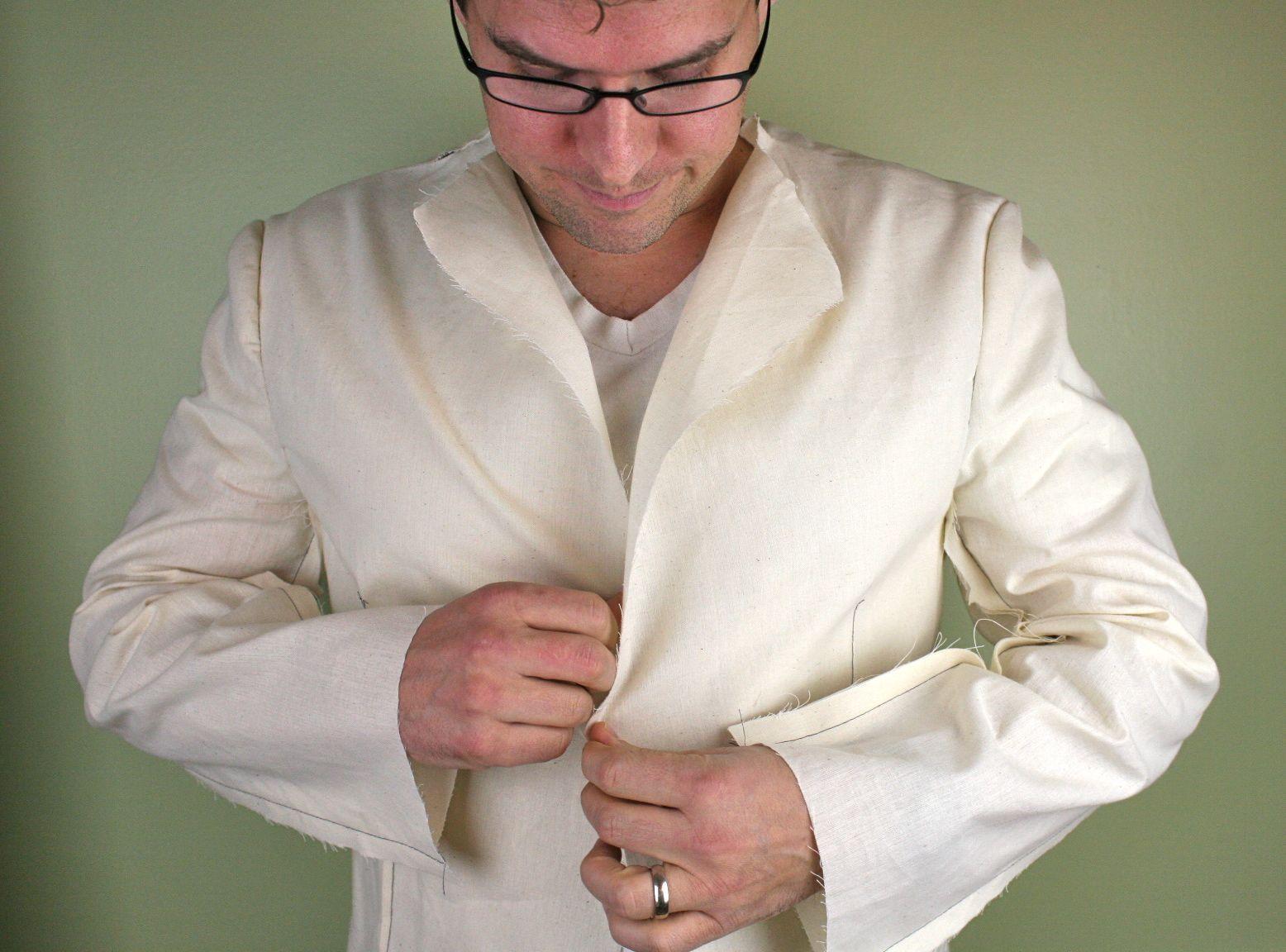 mens jacket button front