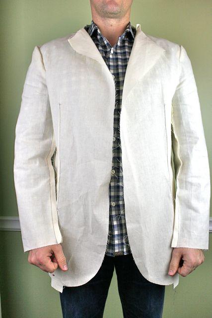 mens jacket on model