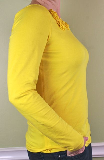 whipstitch yellow tee