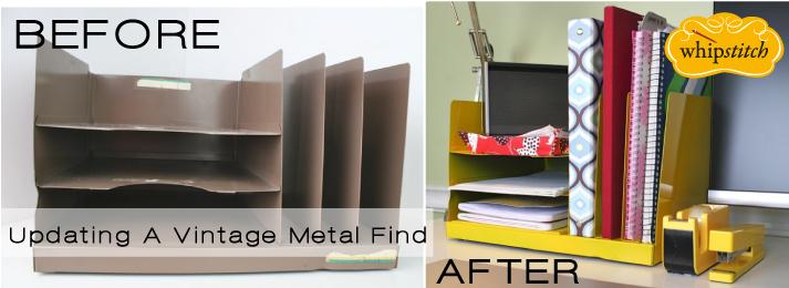 desktop vintage file organizer