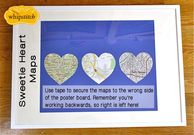 heart map frame mat