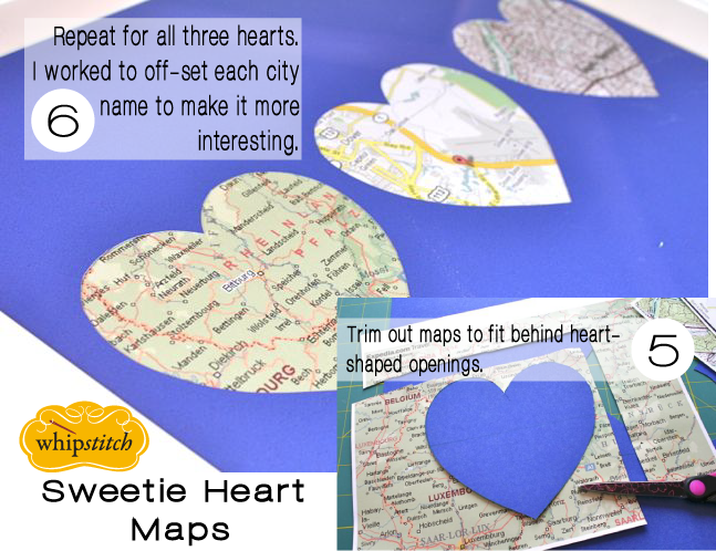 how to create a heart filled map frame
