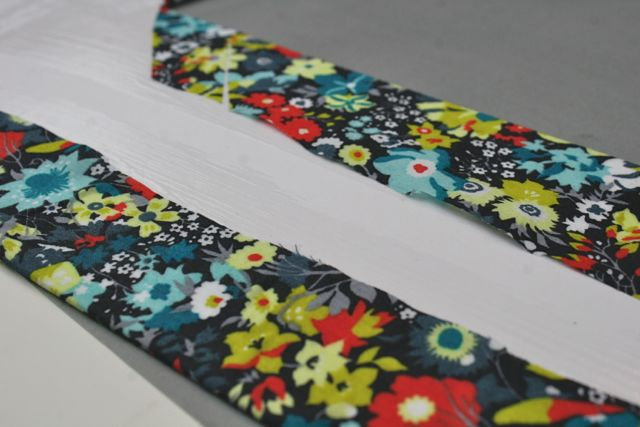 wrapping a picture mat with fabric