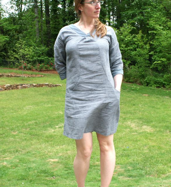 cappuccino dress in chambray