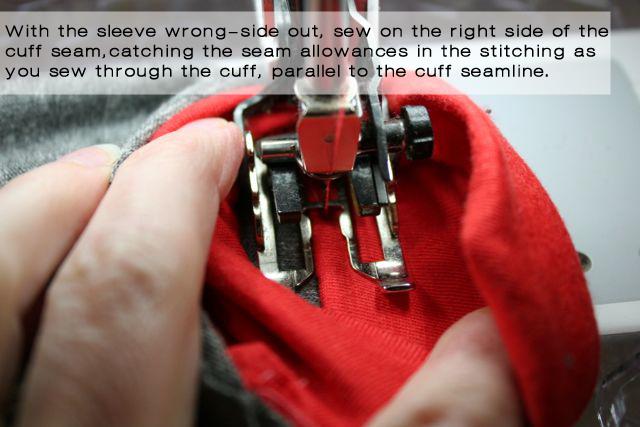 stitch down seam allowances