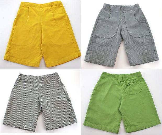 yellow playground shorts