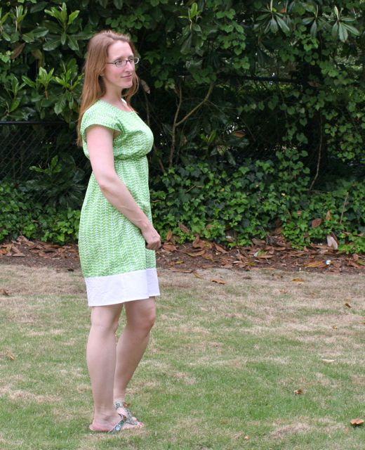 bianca dress in green