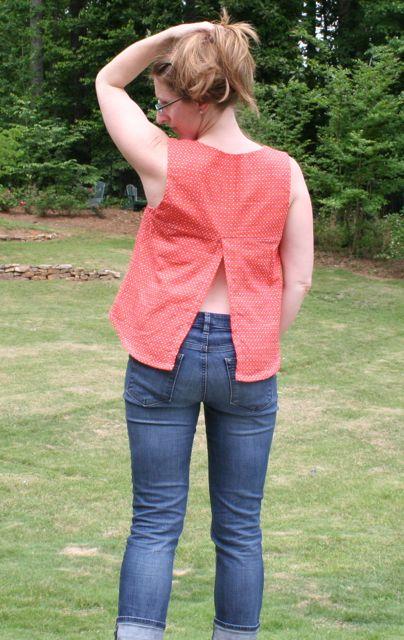 datura blouse open back
