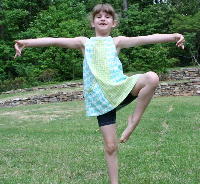 deep pockets tunic ballet