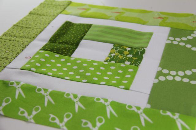 Bliebells Cabin quilt block