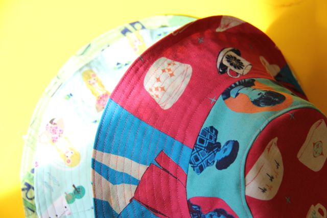 little things to sew stack of bucket hats