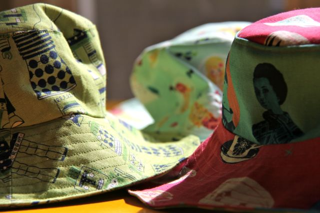 trip of little things to sew bucket hats