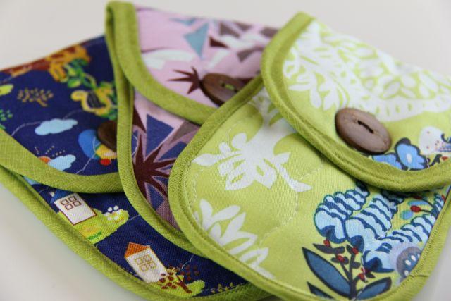 whipstitch | bias bound pouches
