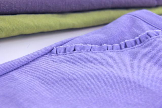 dimensional denim shorts