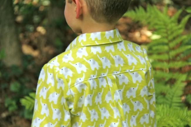 oliver and s sketchbook shirt in fanfare flannel