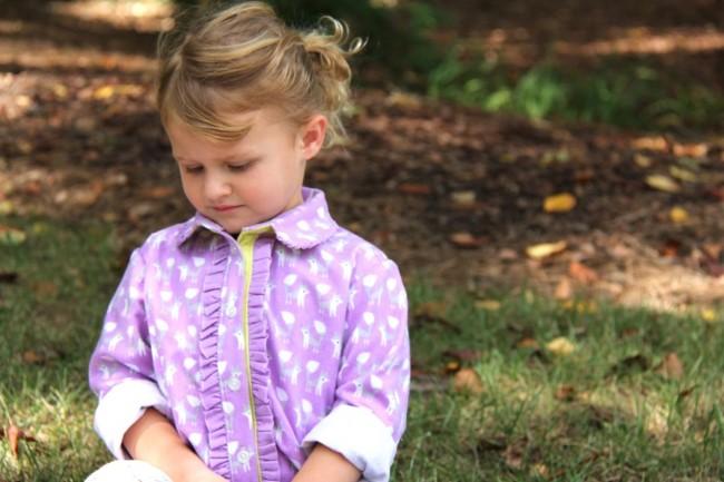 ruffled shirt fanfare lilac foxes