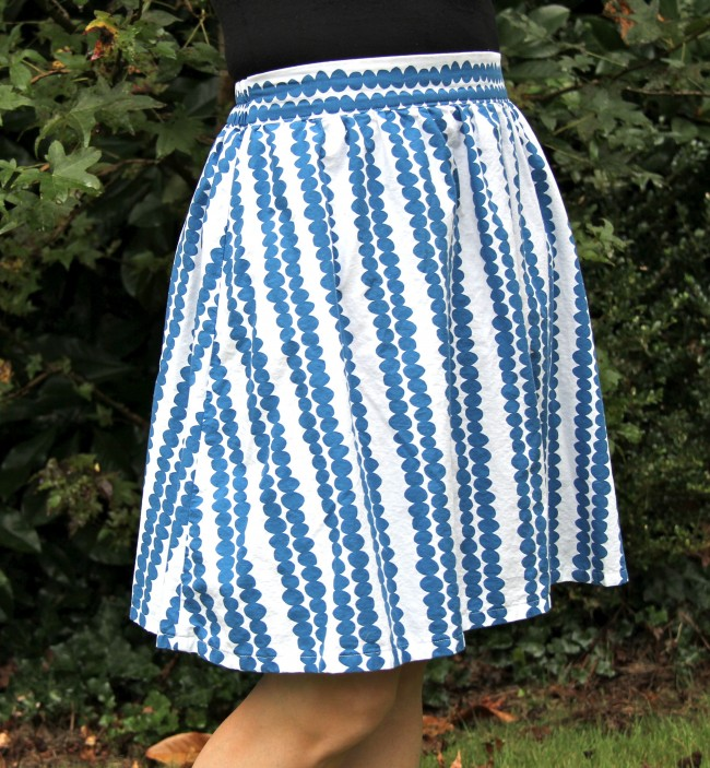 Get Up and Go Skirt in Lotta Jansdotter blue