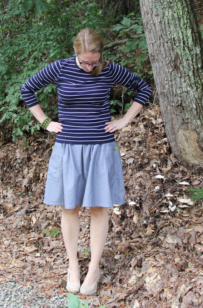 Get Up and Go Skirt with nautical style