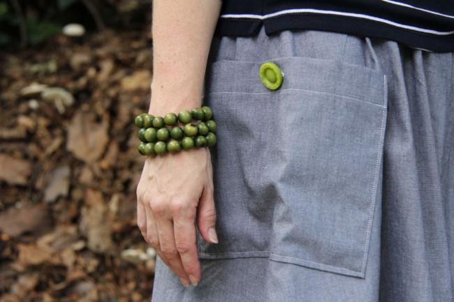 go skirt chambray patch pocket