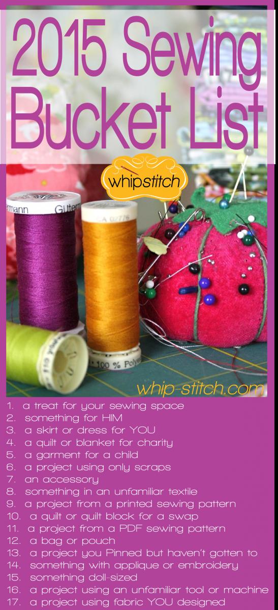 sewing bucket list 2015
