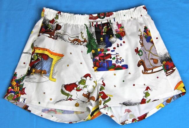 grinch boxer shorts kwik sew 1672