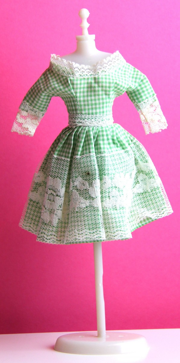 handmade barbie dress a