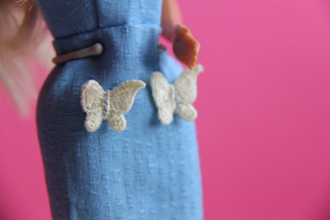 handmade barbie dress applique