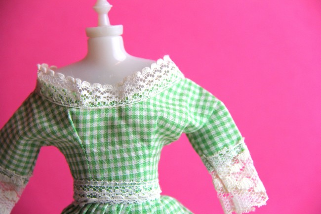 handmade barbie dress b